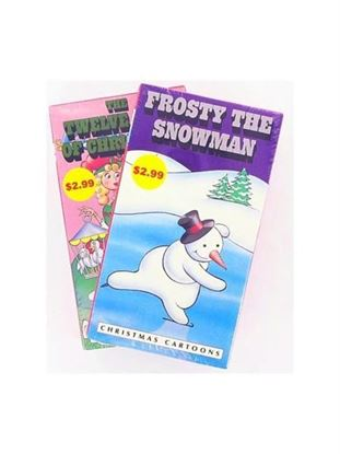 Picture of Children's VHS Christmas videos, assorted (Available in a pack of 25)