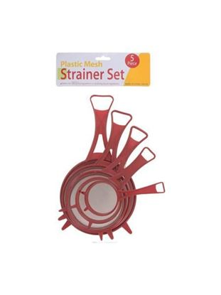 Picture of Plastic mesh strainer set (Available in a pack of 12)