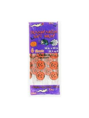 Picture of 6 sheet transparent halloween giftwrap (Available in a pack of 24)