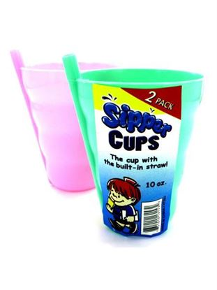 Picture of Sipper cup with built-in straw (Available in a pack of 24)
