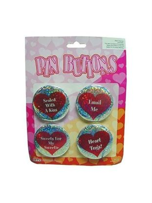 Picture of 2.5 inch heart buttons (Available in a pack of 24)