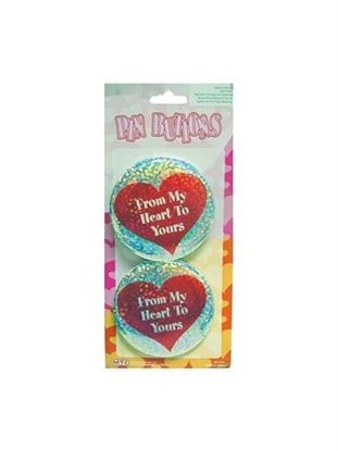 Picture of Heart buttons (Available in a pack of 24)
