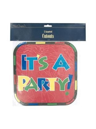 Picture of It's a Party cut-outs (Available in a pack of 24)