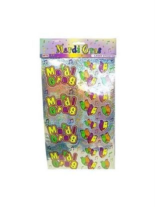 Picture of Laser Mardi Gras stickers (Available in a pack of 24)