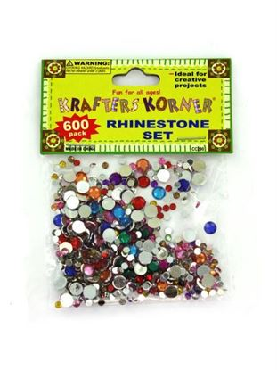 Picture of 600 piece rhinestone set (assorted colors) (Available in a pack of 25)