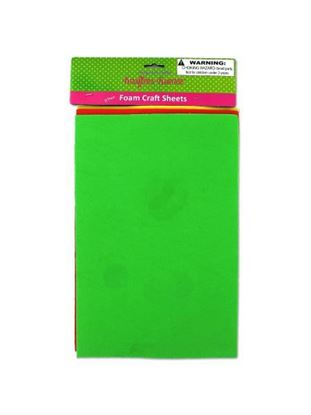 Picture of 3 Pack foam craft sheets (assorted colors) (Available in a pack of 24)