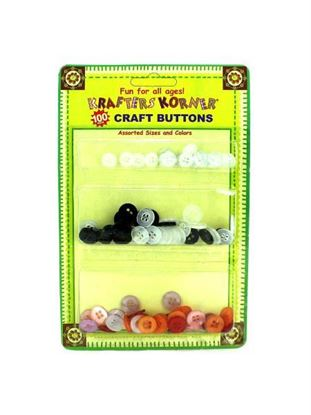 Picture of Assorted craft buttons, pack of 100 (Available in a pack of 24)