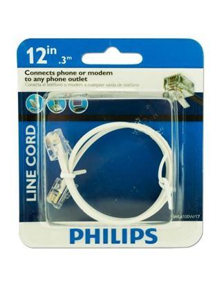 Picture of 12' phone cord (Available in a pack of 18)