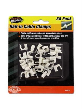 Picture of 30 Pack nail-in cable clamps (Available in a pack of 24)