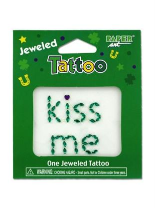 Picture of Jeweled kiss me tattoo (Available in a pack of 24)