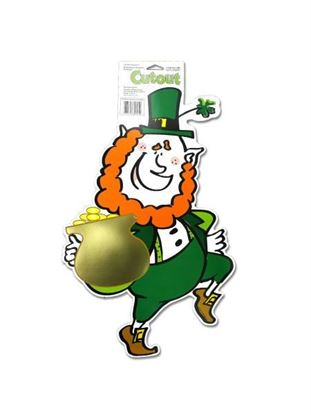 Picture of Leprechaun cardboard cutout, 18' (Available in a pack of 24)