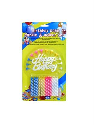 Picture of Birthday candle and holder set (Available in a pack of 24)