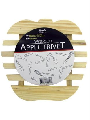 Picture of Wooden apple trivet (Available in a pack of 24)