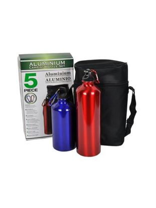 Picture of Aluminum camping bottle set, 5 pieces (Available in a pack of 1)