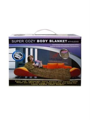Picture of Animal print body blanket with sleeves (Available in a pack of 1)