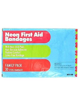 Picture of 30 Neon first aid bandages (Available in a pack of 24)