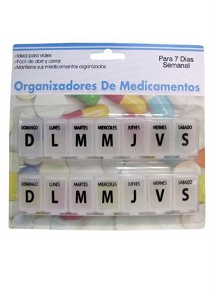 Picture of 7-day Spanish-language pill case (Available in a pack of 24)