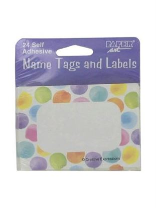 Picture of Name tags and labels, self adhesive (Available in a pack of 24)