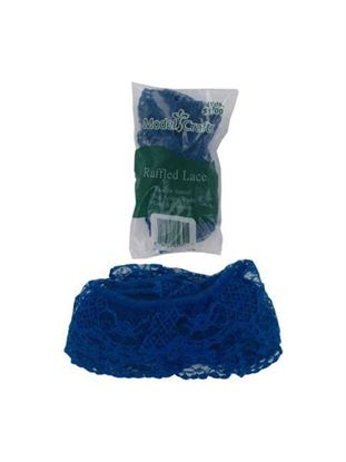 Picture of Blue ruffled lace, 4 yards (Available in a pack of 25)