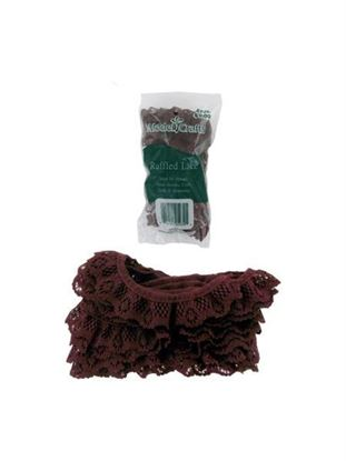 Picture of Cranberry-Colored Lace for Crafting or Sewing (Available in a pack of 25)