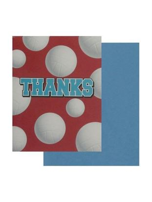 Picture of Volleyball thank you cards, set of 8 (Available in a pack of 24)