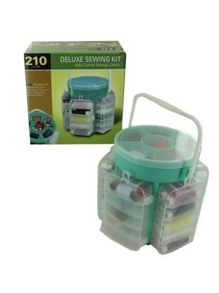 Picture of Deluxe sewing kit with custom storage caddy (Available in a pack of 1)