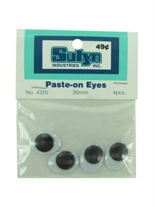 Picture of Jumbo paste-on googly eyes, pack of 4 (Available in a pack of 24)