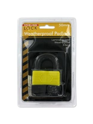 Picture of Laminated waterproof padlock with keys (Available in a pack of 4)