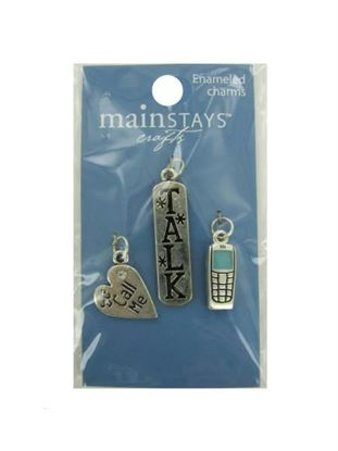 Picture of Cell phone enameled charms (Available in a pack of 24)