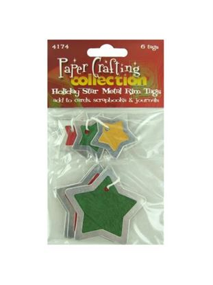 Picture of Star metal rim tags, pack of 6 (Available in a pack of 30)