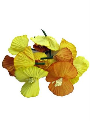Picture of 12 Tropical Paper Flowers (Available in a pack of 34)
