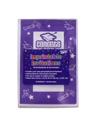 Picture of Congrats Grad imprintable invitations, pack of 10 (Available in a pack of 24)