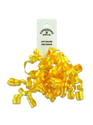 Picture of Yellow mini curl bow (Available in a pack of 36)