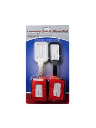 Picture of Luggage tag and strap set, pack of 4 (Available in a pack of 8)