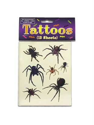 Picture of Spider And Spider Web Tattoos (Available in a pack of 24)