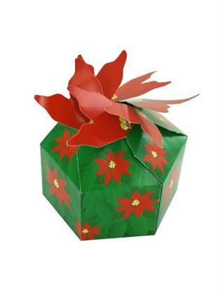 Picture of 3-D Poinsettia Gift Boxes (Available in a pack of 18)