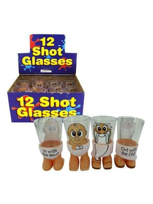 Picture of New Year's Character Shot Glasses (Available in a pack of 24)