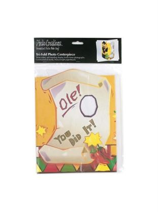 Picture of Graduation fiesta tri-fold photo centerpiece (Available in a pack of 24)
