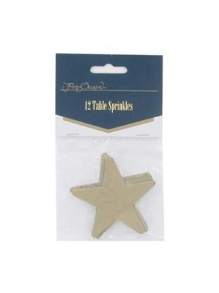 Picture of Gold star table sprinkles, pack of 12 (Available in a pack of 24)