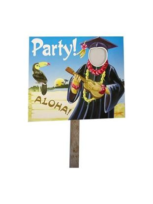 Picture of Grad luau two sided yard sign (Available in a pack of 36)