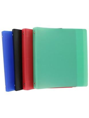 Picture of 3-ring binder, 1 inch, assorted colors (Available in a pack of 12)