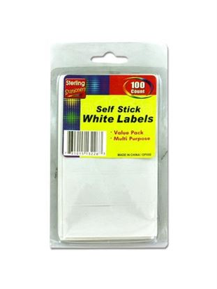 Picture of 100 Pack self-adhesive white labels (Available in a pack of 24)
