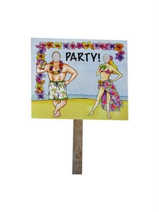 Picture of Beach party double sided photo yard sign (Available in a pack of 18)