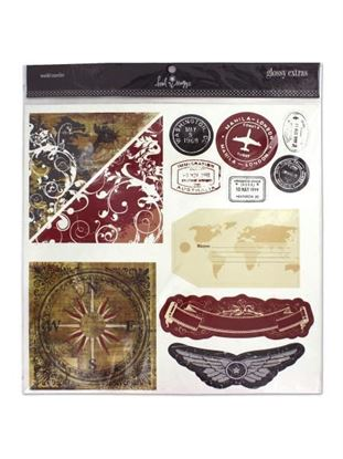 Picture of Scrapbooking accents, world traveler (Available in a pack of 24)