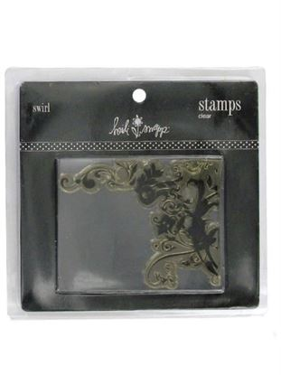 Picture of Clear acrylic stamp, swirl design (Available in a pack of 18)