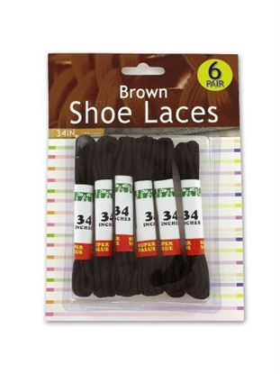 Picture of 6 Pack brown shoe laces (Available in a pack of 24)