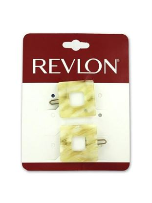 Picture of Square barrettes, pack of 2 (Available in a pack of 20)