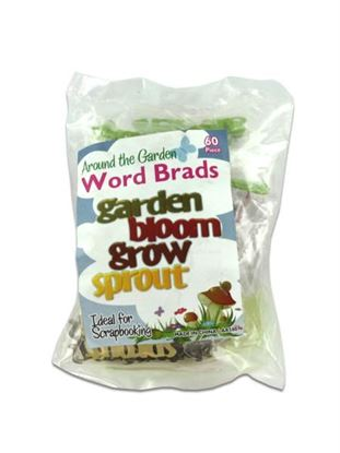 Picture of 60 In The Garden Word Brads (Available in a pack of 24)