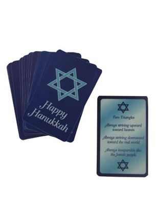 Picture of Hanukkah Prayer Wallet Cards (Available in a pack of 30)