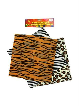 Picture of Animal Print Graduation Cap Covers (Available in a pack of 20)